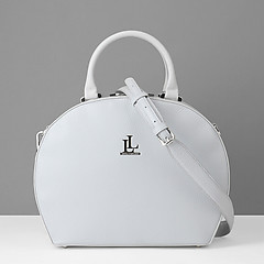 9b8c20adec60 ... Круглая кожаная сумка среднего размера в светло-сером цвете Lucia  Lombardi 930 light grey