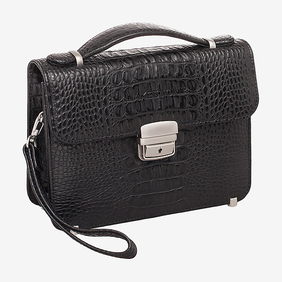 Барсетки, клатчи LAKESTONE 932011 black croc