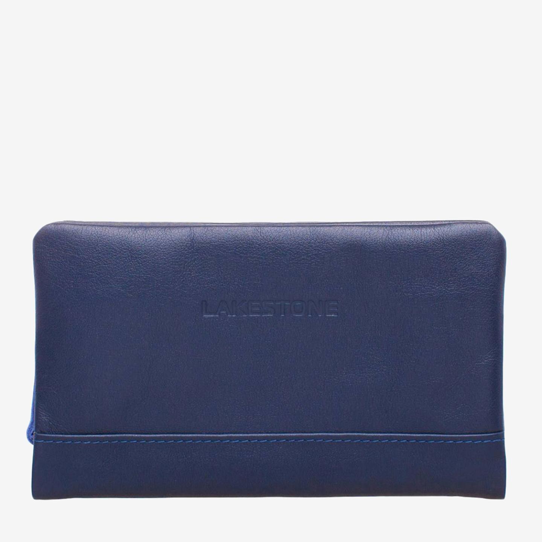79205c1437cf Стильный кожаный мужской клатч на молнии в синем цвете LAKESTONE ...