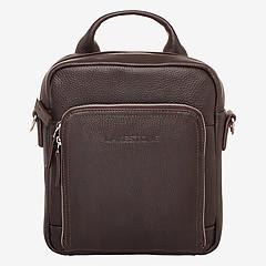 5ac4292fcb17 ... Небольшая мужская сумка через плечо из коричневой кожи LAKESTONE 958538  brown