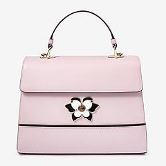 fe900aa92d44 ... Кожаная сумочка-трапеция Mughetto небольшого размера в лавандовом  оттенке Furla 961609 lavanda