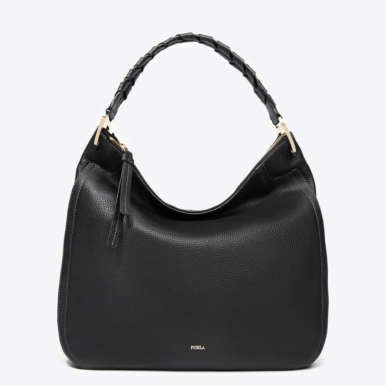 Черная кожаная сумка-хобо Rialto среднего размера – Италия, черного ... ca322851dec