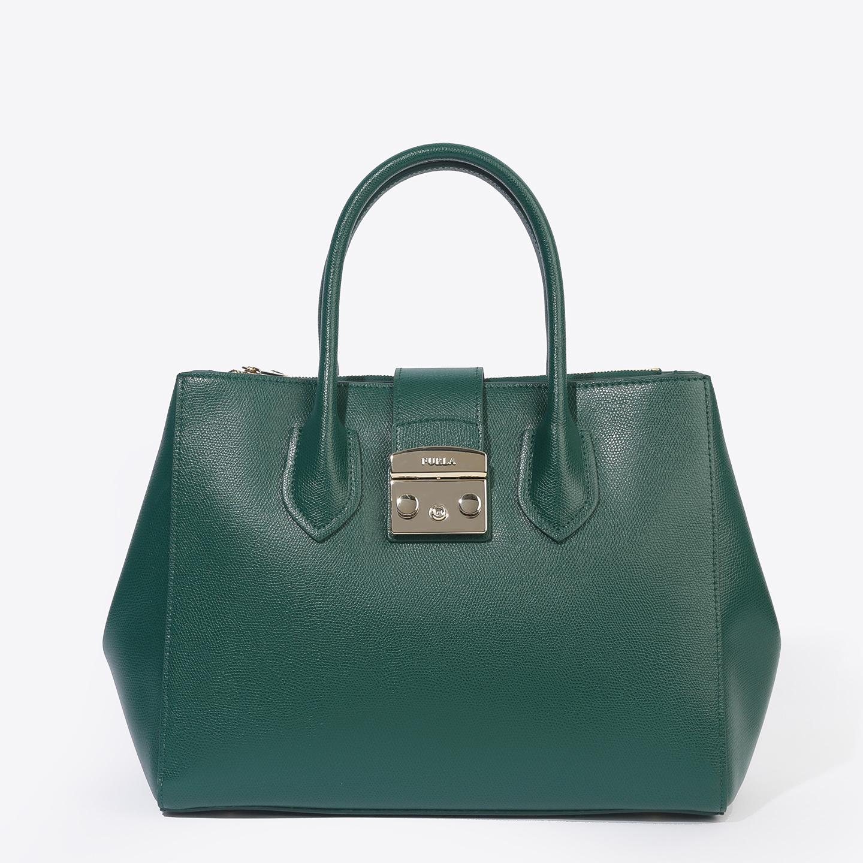 Изумрудная кожаная сумка-тоут Metropolis среднего размера – Италия ... 93ce17bdcd8