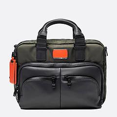 79c2de11be40 ... Сумка-портфель из нейлона и черной кожи с защитным отделом для ноутбука  YO1 Alpha 9796