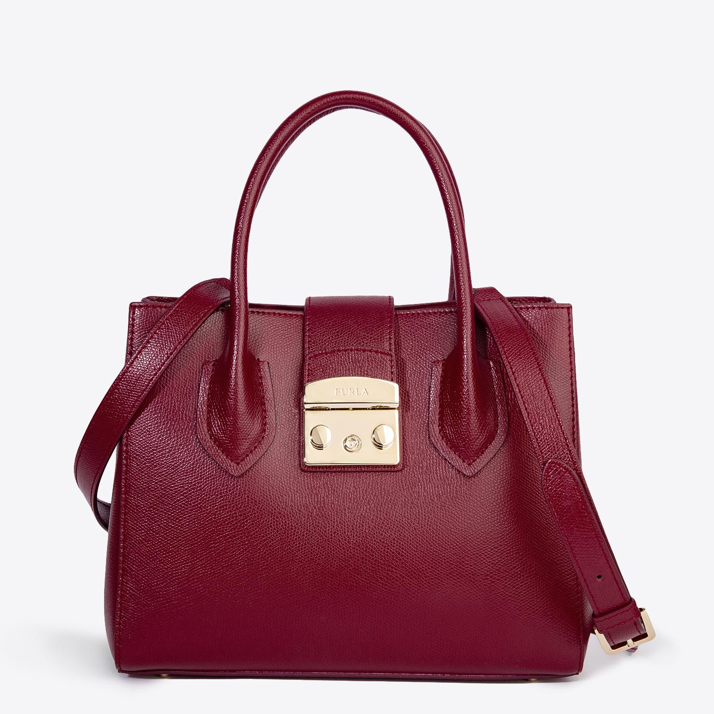 Бордовая кожаная сумка-тоут Metropolis небольшого размера – Италия ... 1e345f10c92