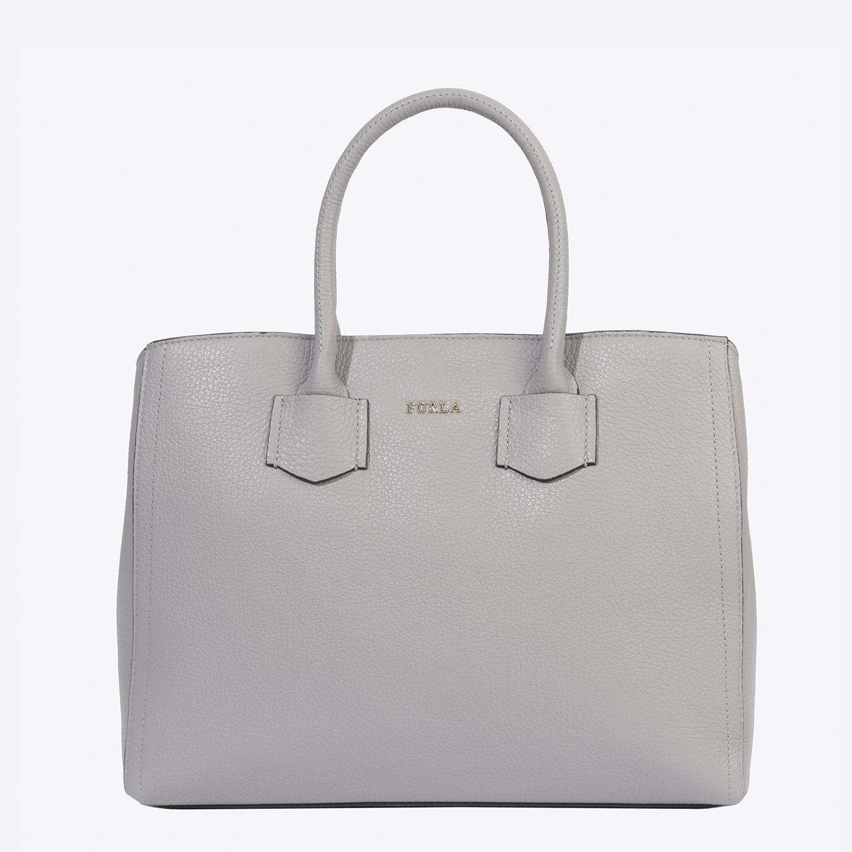 8ae6299b03fd Светло-серая кожаная сумка-тоут Alba среднего размера – Италия ...