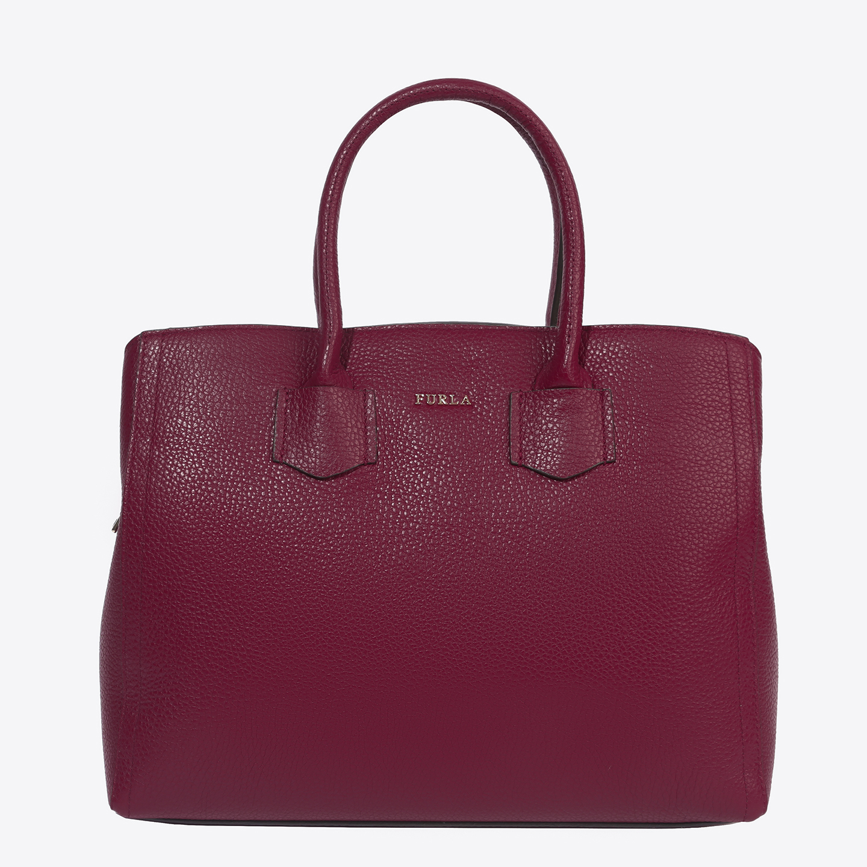 0d28ee98be5f Кожаная бордовая сумка-тоут Alba среднего размера – Италия ...