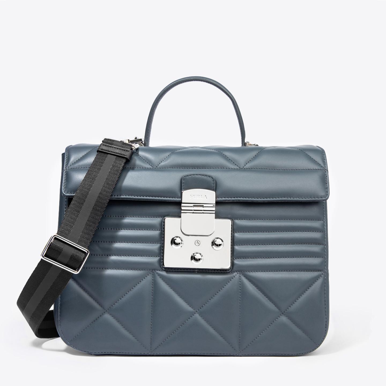 dc1e814aa797 Графитовая кожаная сумка Fortuna среднего размера – Италия, серого ...