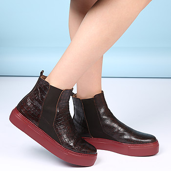 Полусапожки Wonders A6606 croc brown