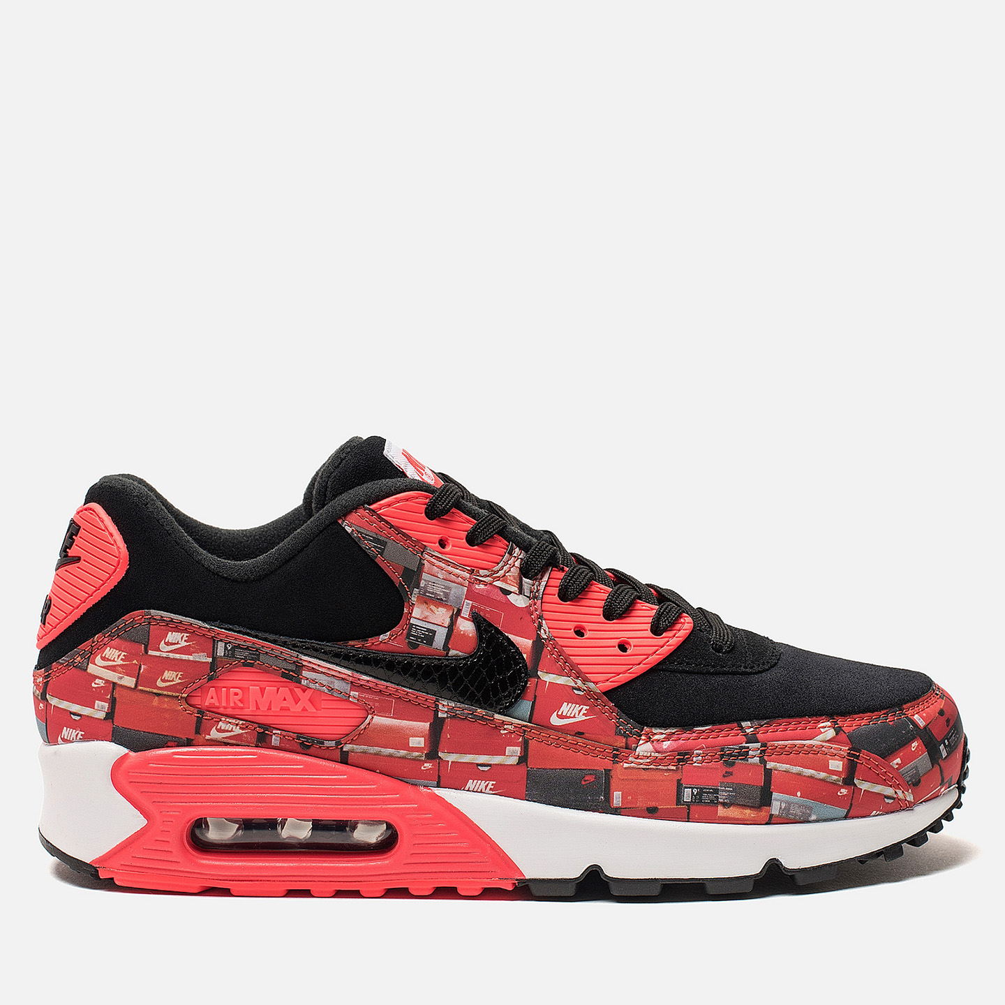 83279587 Кроссовки x atmos Air Max 90 We Love Nike Pack Black/Bright Crimson/White  ...