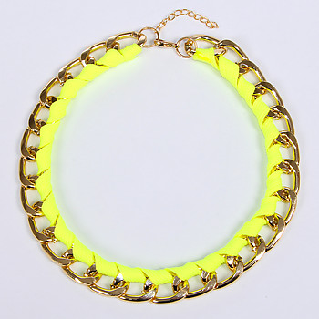 Женское колье Fashion Jewelry B14 B 09 gold green