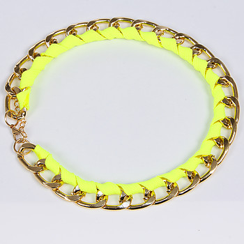 Женские колье Fashion Jewelry B14 B 09 gold green