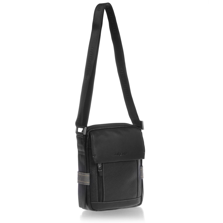 9961a39a11ac Мужская сумка на плечо из натуральной кожи – Китай, черного цвета ...