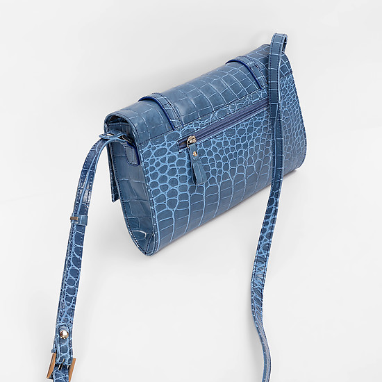 Сумки через плечо ESSE Breydi Soft croco light blue