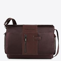 d856b77a2cab ... Мужская коричневая сумка-мессенджер среднего размера Piquadro  CA1592BRTM brown
