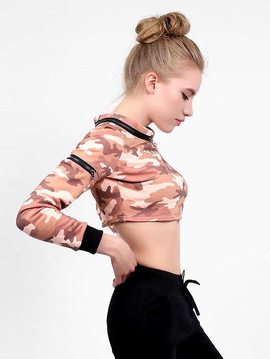 Толстовка Octave999 CAMO TOP pink military