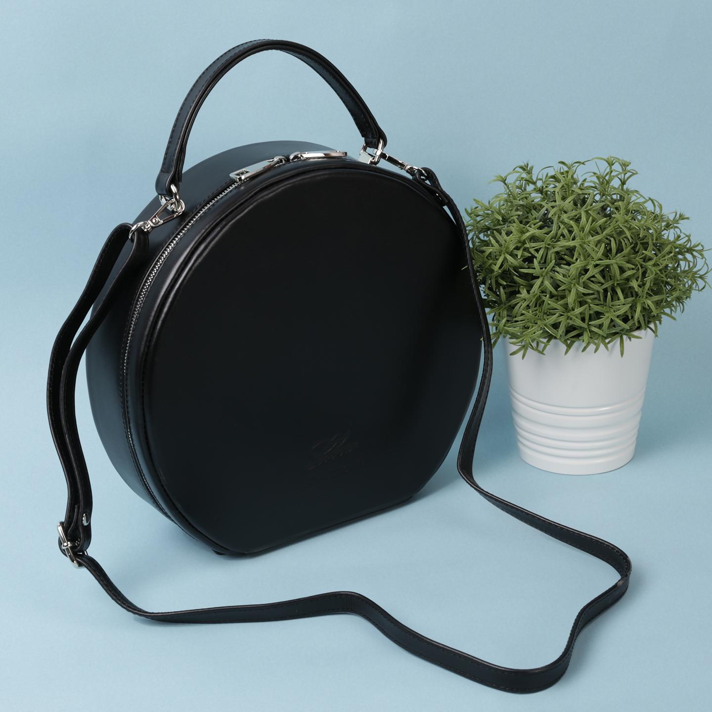 Черная круглая сумка с короткой ручкой – Россия 9b1f395154d06