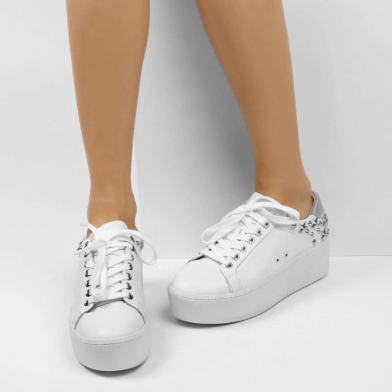 Кеды ASH Cyber white silver – Китай, белого цвета, натуральная кожа ... 2cbbe20dff5