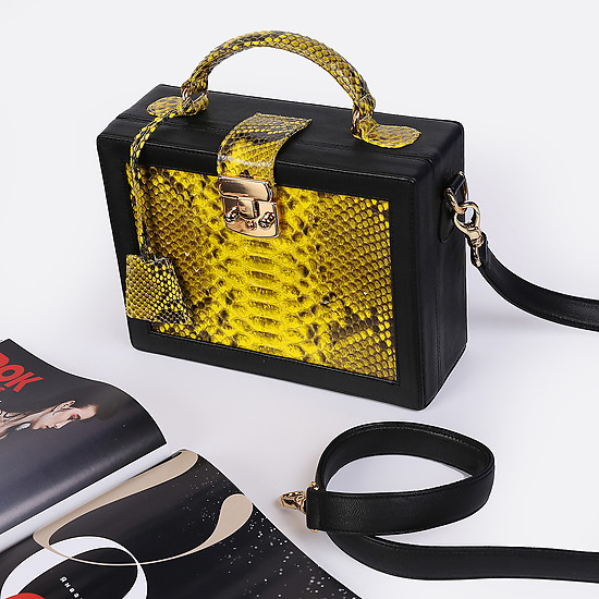 Geuco Dream Box black yellow python