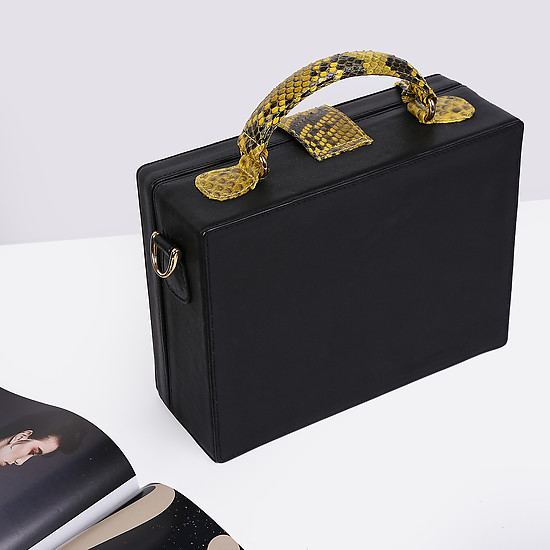 Сумки через плечо Geuco Dream Box black yellow python