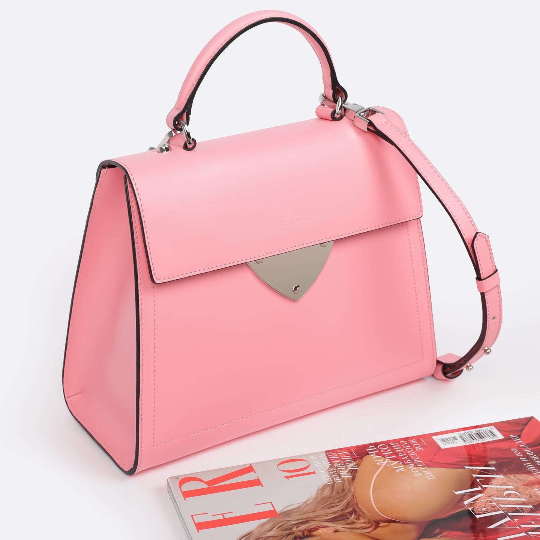 2b716790267f Розовая сумка-трапеция из гладкой кожи b14 – Китай, розового цвета ...