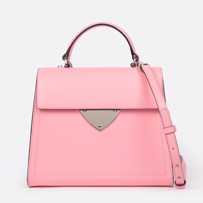 Розовая сумка-трапеция из гладкой кожи b14 – Китай, розового цвета ... 7492c23a4d5