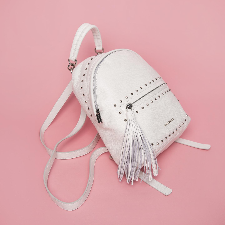 fe553dbbdc51 Белый кожаный рюкзак с заклепками Leonie – Китай, белого цвета ...