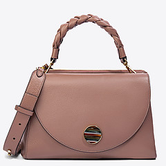 b96866f7ef26 ... Кожаная сумка Precieuse среднего размера цвета пыльной розы Coccinelle  E1-CAA-12-01