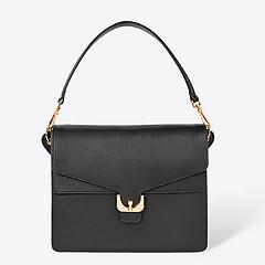 bcb7a9264a72 ... Черная кожаная сумка Ambrine Soft среднего размера Coccinelle  E1-CJ5-12-04-