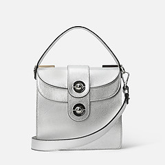17191326e79f ... Серебристая кожаная сумочка Leila небольшого размера Coccinelle  E1-DO5-15-01-01