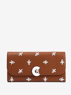 452dceb9e42d ... Коричневый кожаный кошелек Craquante Razzo Print с принтом Coccinelle  E2-DN9-11-03
