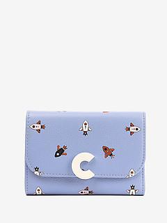 5294ffe340cf ... Голубой кожаный кошелек Craquante Razzo Print с принтом Coccinelle  E2-DN9-11-66