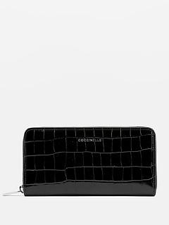 13939ae46840 ... Черный кожаный кошелек Metallic Croco с тиснением под крокодила  Coccinelle E2-DW8-11-