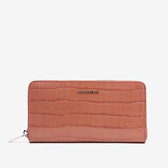 c151610f15e9 ... Пыльно-розовый кожаный кошелек Metallic Croco с тиснением под крокодила  Coccinelle E2-DW8-
