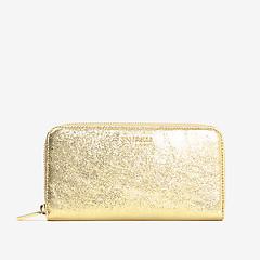 7dcab76a9e5a ... Горизонтальный кожаный кошелек Metallic Glitter в золотистом цвете  Coccinelle E2-DW9-11-04