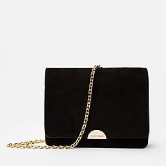 32f27ed88b86 ... Черная сумочка кросс-боди Half Suede из замши с ремешком-цепочкой  Coccinelle E5-