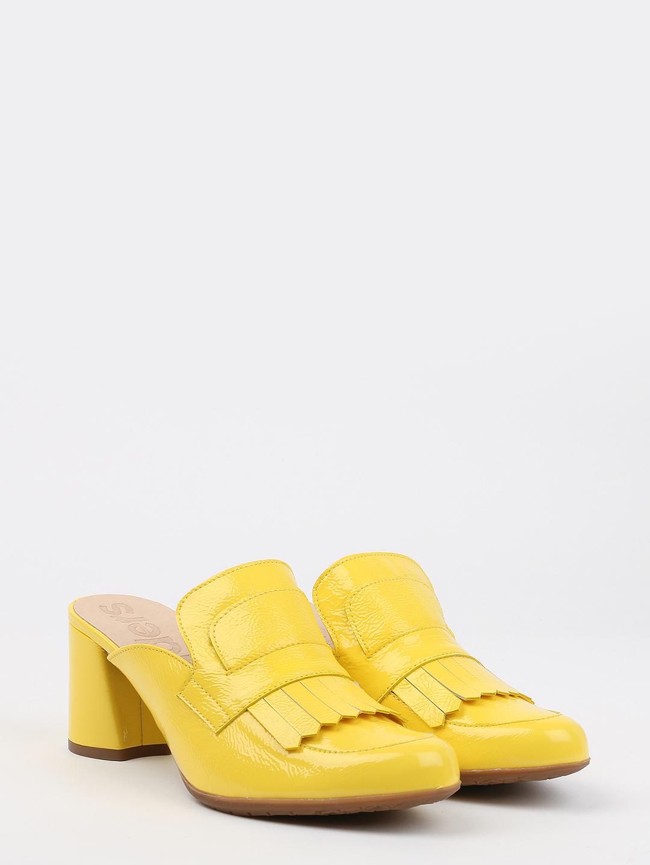 e07be975af1f Желтые мюли на среднем каблуке из лаковой кожи – Испания, желтого ...