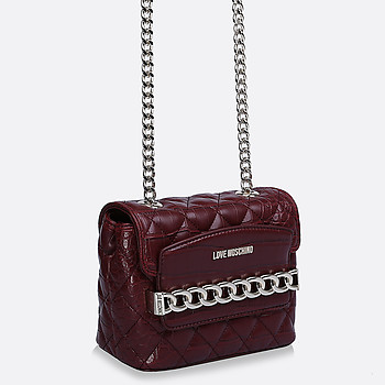Сумка из кожи крокодила Moschino JC4016PP12LB0-550 croc bordo