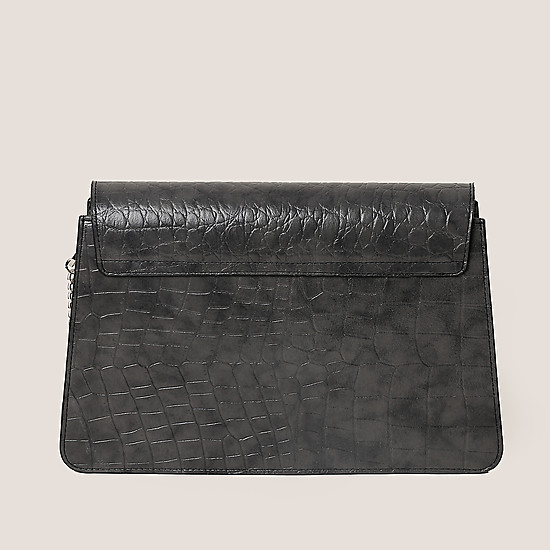 ESSE Kitti dark croco grey black
