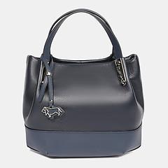 ... Базовая кожаная сумка-тоут небольшого размера в синем цвете Labbra  L-15834 D blue 49f62290d78