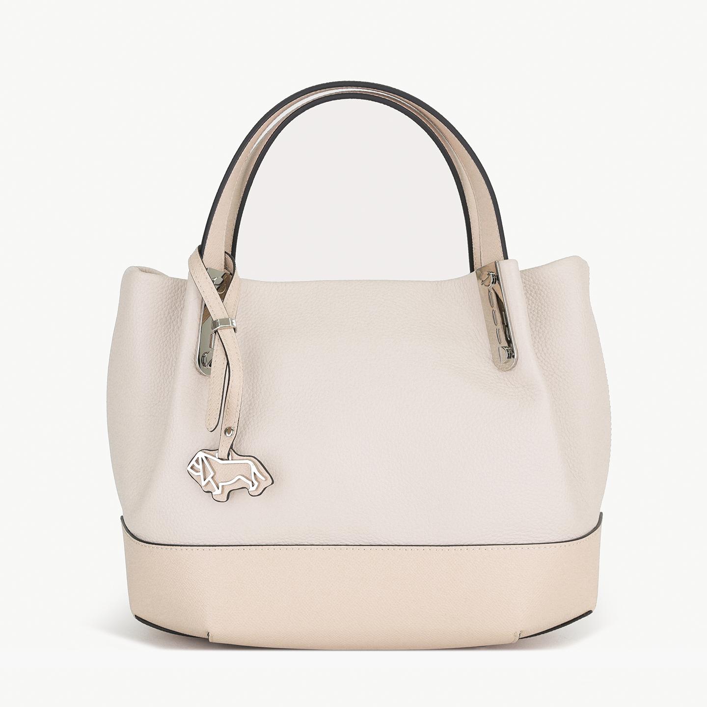 e9e758dc2fef Базовая кожаная сумка-тоут небольшого размера в бежевом цвете Labbra ...