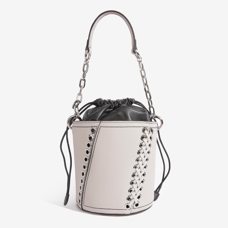 3bffd973e234 Бежевая кожаная сумка-торба небольшого размера с заклепками и шнуровкой  Labbra Женские сумки через плечо ...