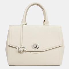 641d223a0500 ... Бежевая кожаная сумка среднего размера с фирменным брелоком Labbra  L-DL91409 beige