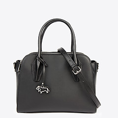 73f2aba0a9d2 ... Черная кожаная сумка-тоут среднего размера в деловом стиле Labbra  L-Z052-01A