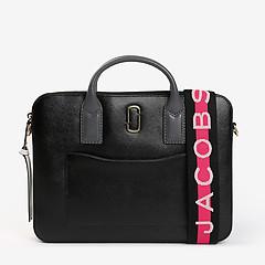 e9ab6c68b0fc ... Черная кожаная папка для документов с ярким ремешком Marc Jacobs  M0014615_002 black grey