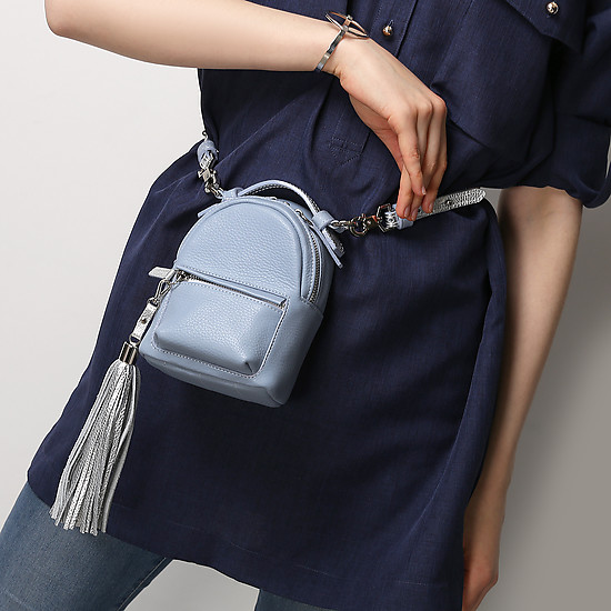 Bagpack Micro sky blue silver