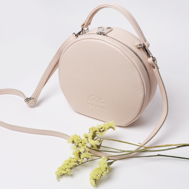 Светлая круглая сумочка кросс-боди – Россия a6db2fd438ef0