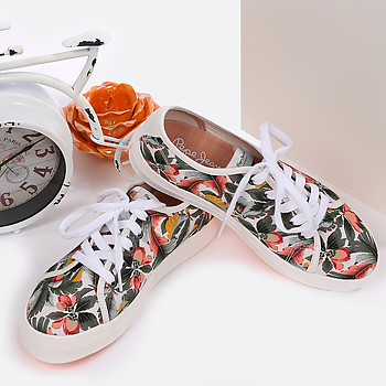 Кеды PEPE JEANS PLS30519_861 white green flowers