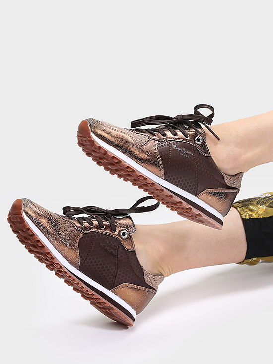 Кроссовки PEPE JEANS PLS30537 898 brown bronze