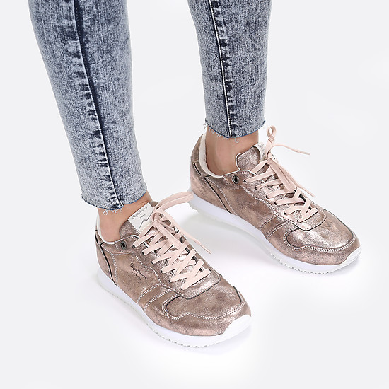 Кроссовки PEPE JEANS PLS30565 309 metallic rose